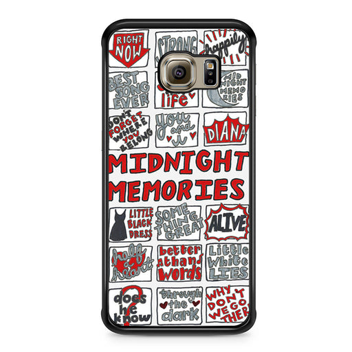 1D Midnight Memories Collage Samsung Galaxy S6 Edge case