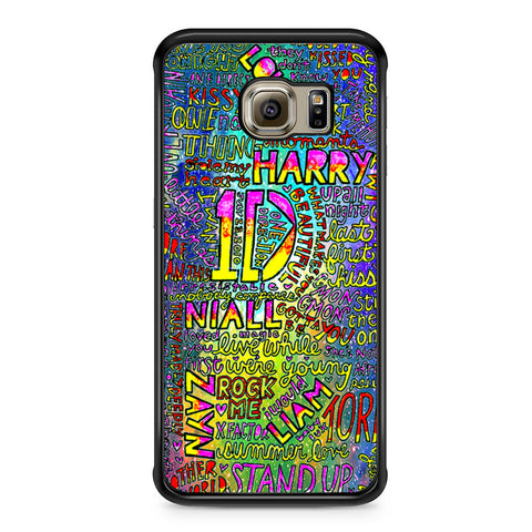 1D One Direction Lyrics Samsung Galaxy S6 Edge case