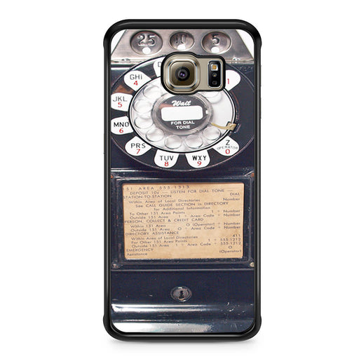 Black Retro Pay Phone Samsung Galaxy S6 Edge case