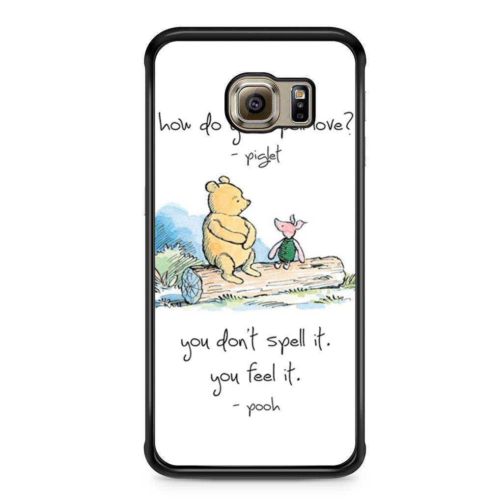 Pooh Love Quotes Baby Winnie The Pooh Piglet Love Quote Samsung Galaxy S6 Edge Case