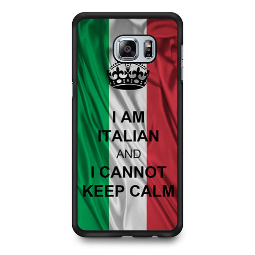 I Am Italian And I Can Not Keep Calm Samsung Galaxy S6 Edge Plus case