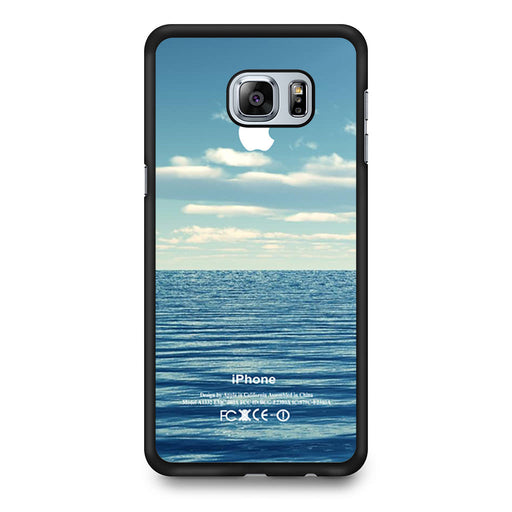 Blue Ocean Beach Bokeh Silicone Photograph Spring Summer Vintage Samsung Galaxy S6 Edge Plus case