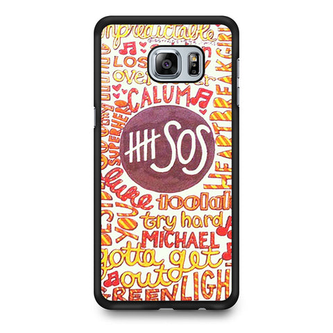 5 Seconds Of Summer 5SOS Quote Design Samsung Galaxy S6 Edge Plus case