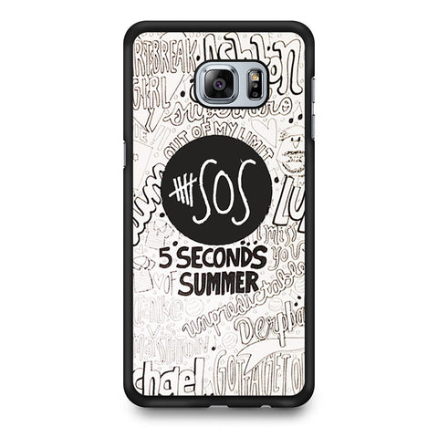 5 Seconds Of Summer Collage Samsung Galaxy S6 Edge Plus case