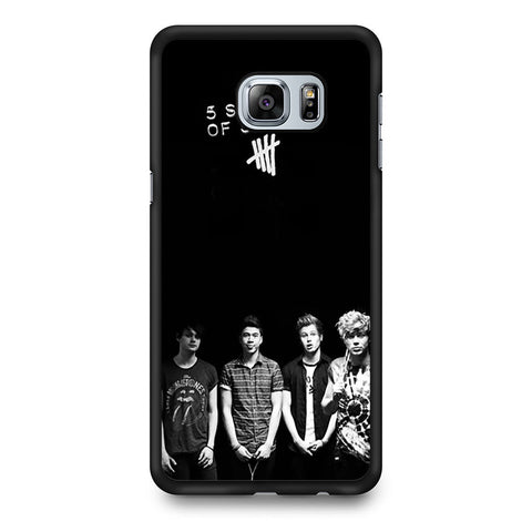 5 Seconds of Summer B/W Photograph Samsung Galaxy S6 Edge Plus case