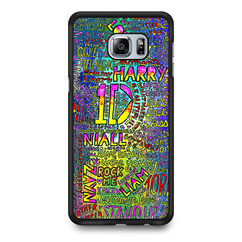 1D One Direction Lyrics Samsung Galaxy S6 Edge Plus case