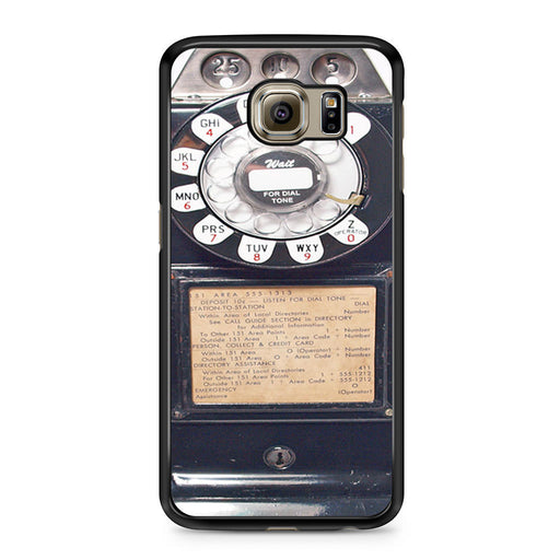 Black Retro Pay Phone Samsung Galaxy S6 case