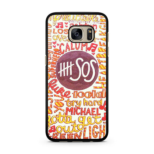5 Seconds Of Summer 5SOS Quote Design Samsung Galaxy S7 case