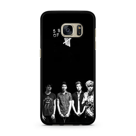 5 Seconds of Summer B/W Photograph Samsung Galaxy S7 case