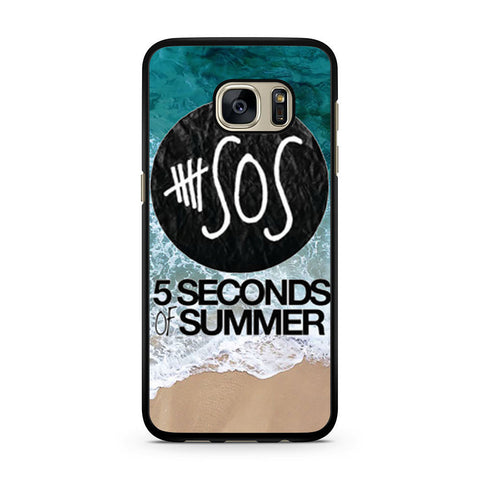 5 Seconds of Summer Band The Beach Samsung Galaxy S7 case