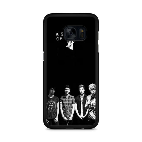 5 Seconds of Summer B/W Photograph Samsung Galaxy S7 Edge case