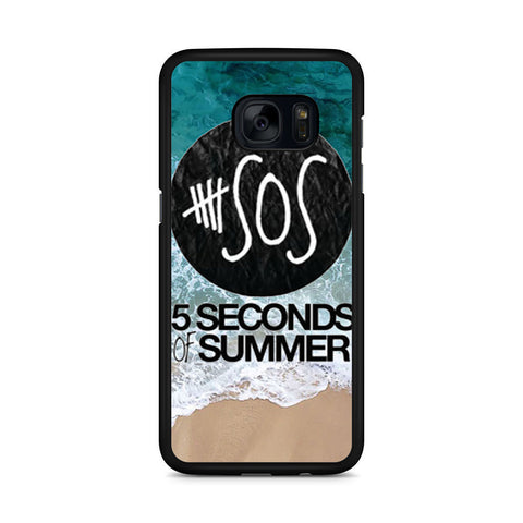 5 Seconds of Summer Band The Beach Samsung Galaxy S7 Edge case