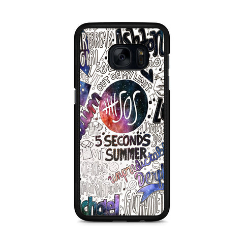 5 Seconds Of Summer Collage Samsung Galaxy S7 Edge case