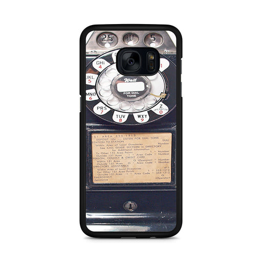 Black Retro Pay Phone Samsung Galaxy S7 Edge case