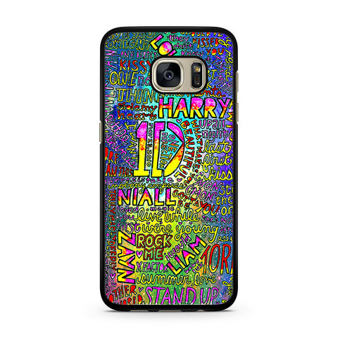 1D One Direction Lyrics Samsung Galaxy S7 case