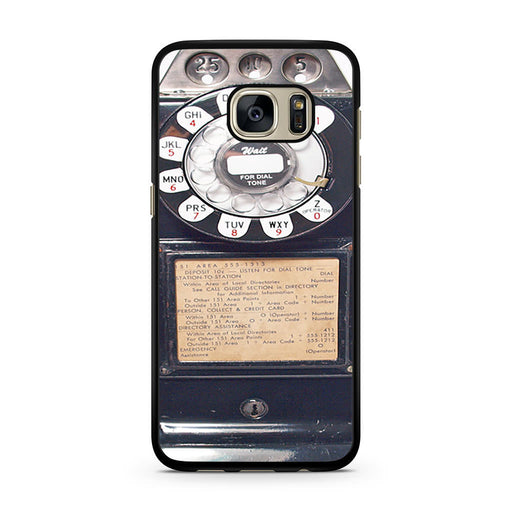 Black Retro Pay Phone Samsung Galaxy S7 case