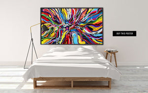 Abstract and colorful art poster by Danish artist Kristian von Hornsleth.