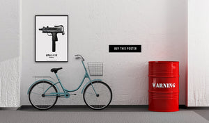 Artposter by Danish artist Kristian von Hornsleth showing an Uzi changed into an art pice.