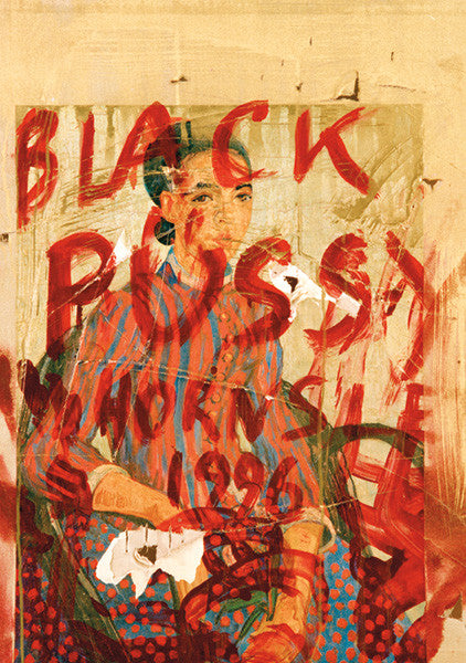 """BLACK PUS*Y"" Wall Art by Hornsleth. Affordable art poster, created from the original art piece. A very provocative and race oriented art piece by Danish artist Kristian von Hornsleth, with the words BLACK PUS*Y."