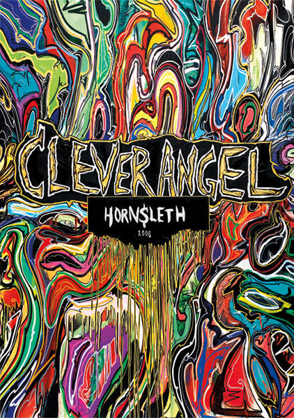 """CLEVER ANGLE"" Wall Art Print by Hornsleth. Colourful and abstract paint strokes on canvas."