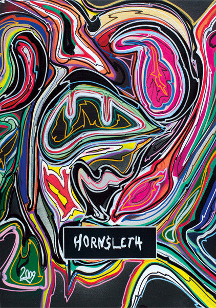 """ABSTRACT 2009"" Wall Art Poster by Hornsleth. Abstract colourful paint strokes."