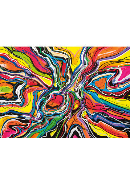 """ABSTRACT 2016"" Wall Art Poster by Hornsleth. Colourful bright and abstract paint strokes."