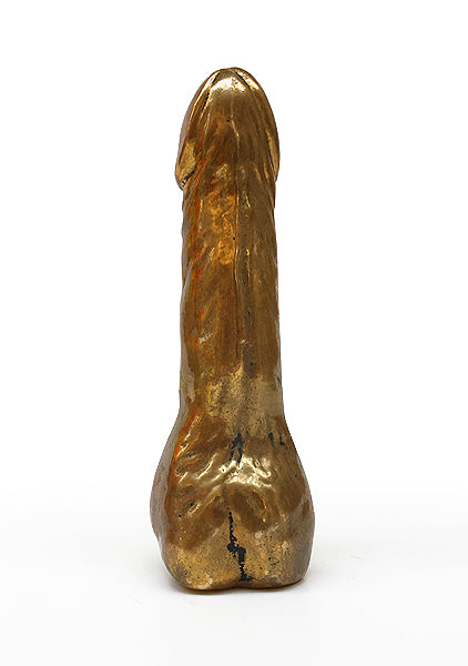 A limited edition Golden fallos made by Danish artist Kristian von Hornsleth