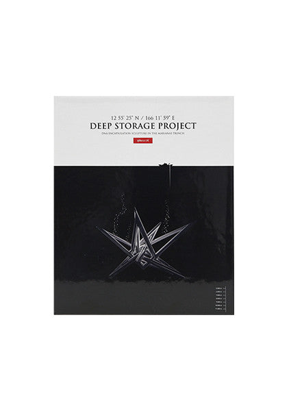 Deep Storage Project' is Hornsleth's amazing four year worldwide quest completed in 2014 where he to collected 4000 human blood and DNA samples and placed them inside a sculpture later lowered 11 km down into the Marianas Trench. This amazing hard cover art is book bursting with beautiful photos and descriptive texts will give you the whole story.