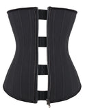 Premium Latex Waist Trainer Clip and Zip (25 Bone) - Black
