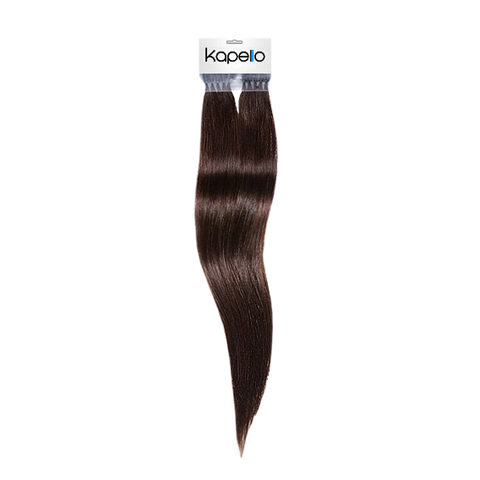 Dark coffee brown 20 inch straight pre bonded european hair extensions
