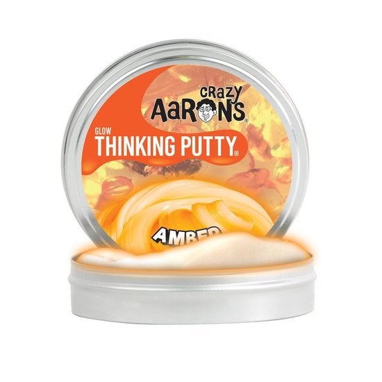 Crazy Aaron's Mini Glow Amber Thinking Putty
