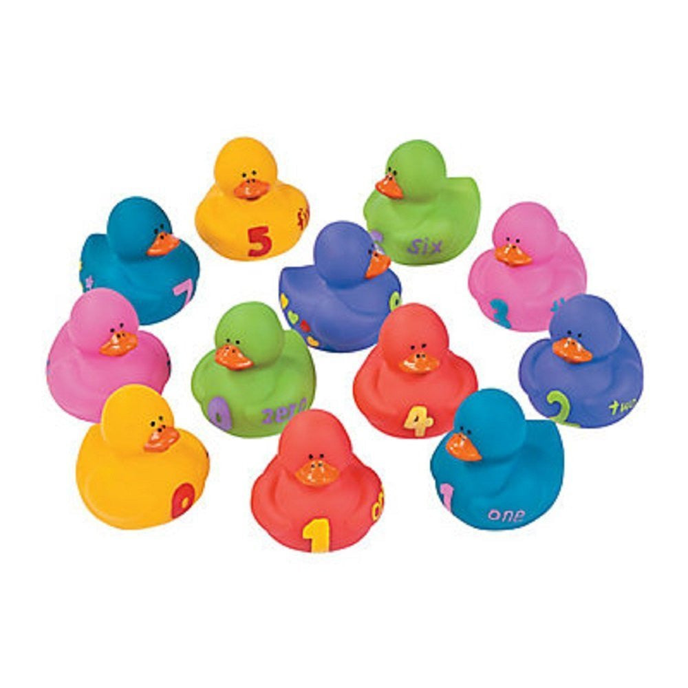 Rubber Ducks Educational Products - 12 pc 1-2-3 Counting Learning to Count