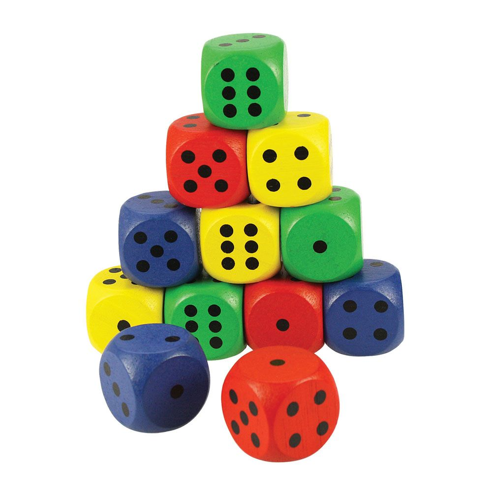 Giant Dice Cubes Coloured (Each)