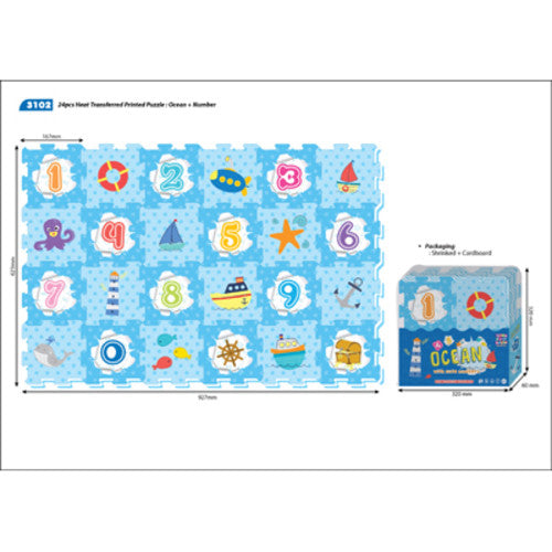 Soft EVA Foam Number Puzzle Play Mat
