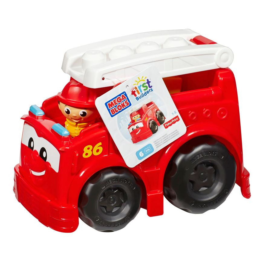 Mega Blocks First Builders Firetruck Freddy