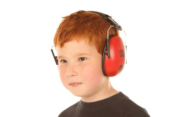 Kids Ear Defenders Red