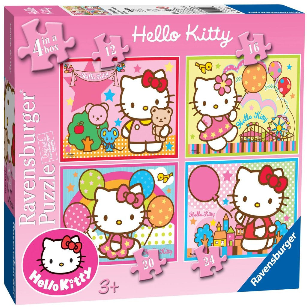 Ravensburger Hello Kitty  4 In A Box Jigsaw Puzzles