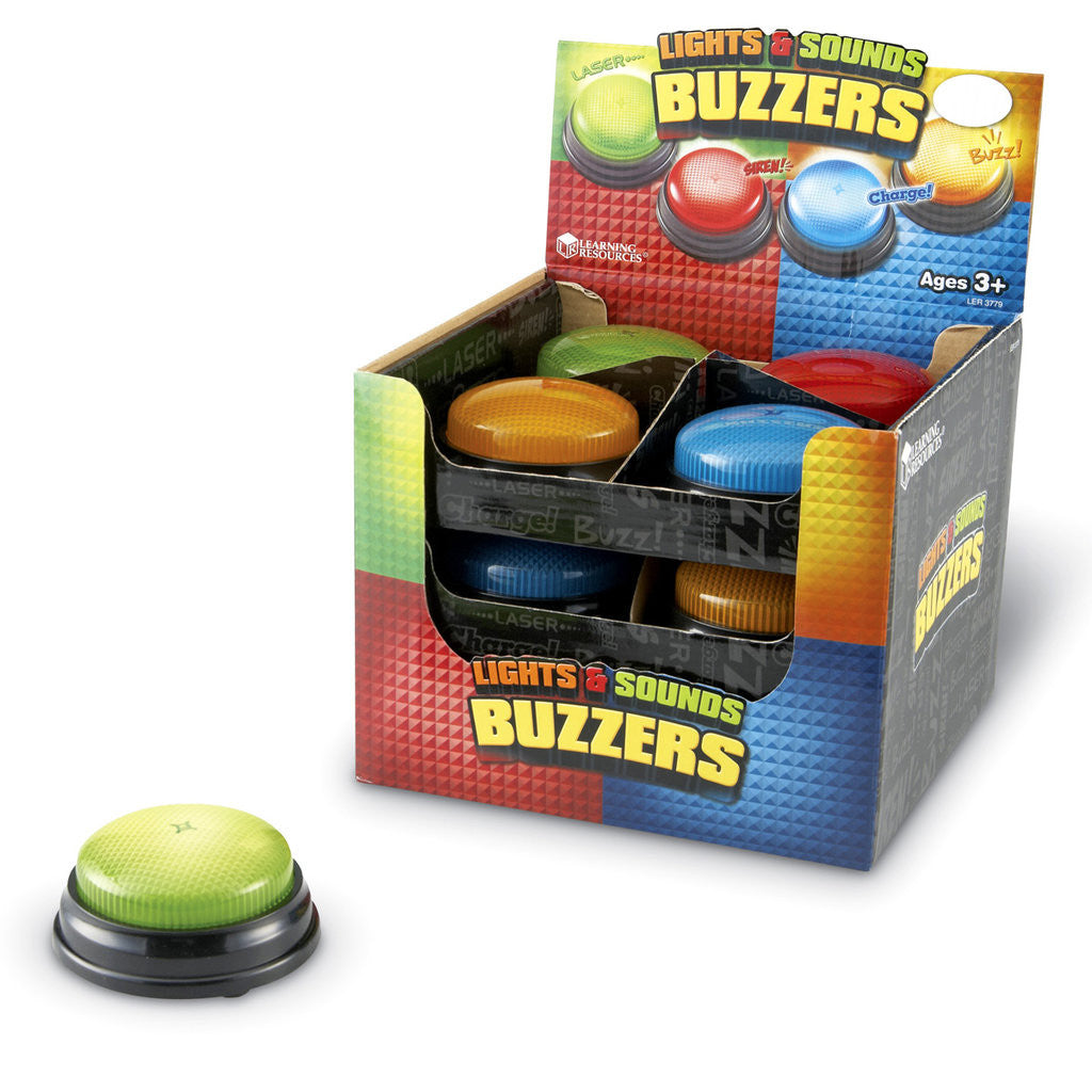 Learning Resources Lights and Sounds Buzzers - 12