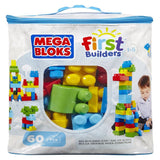 MEGA BLOCKS BIG BUILD BAG 60 PC BLUE