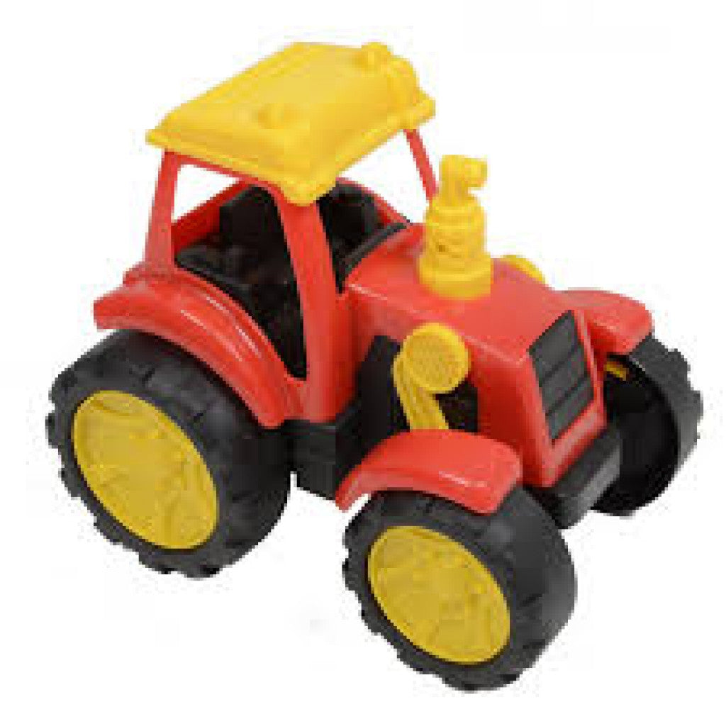 Plastic Tractor In Window Box