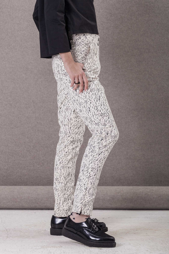 HIGH WAIST PRINTED PANTS