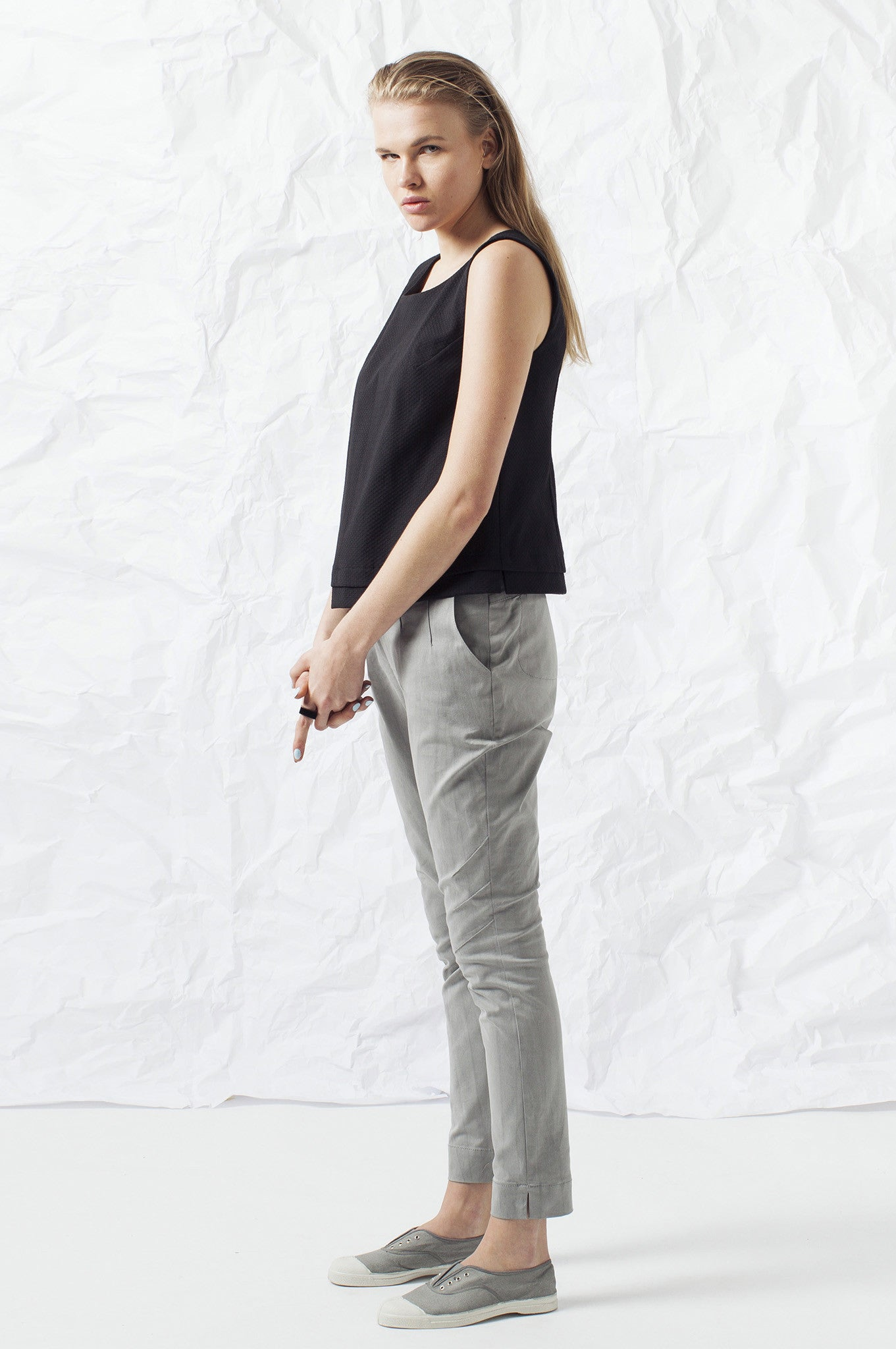 HIGH WAIST GRAY PANTS