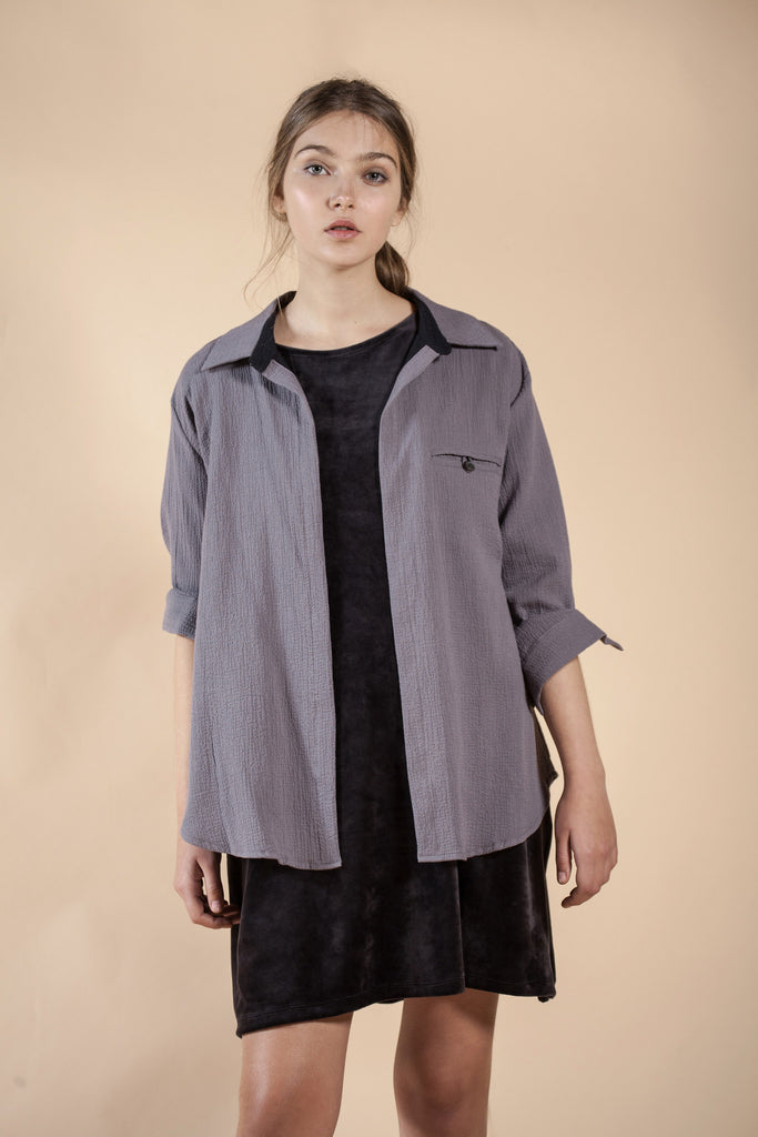 WOMEN'S LIGHT GRAY JACKET - STONE