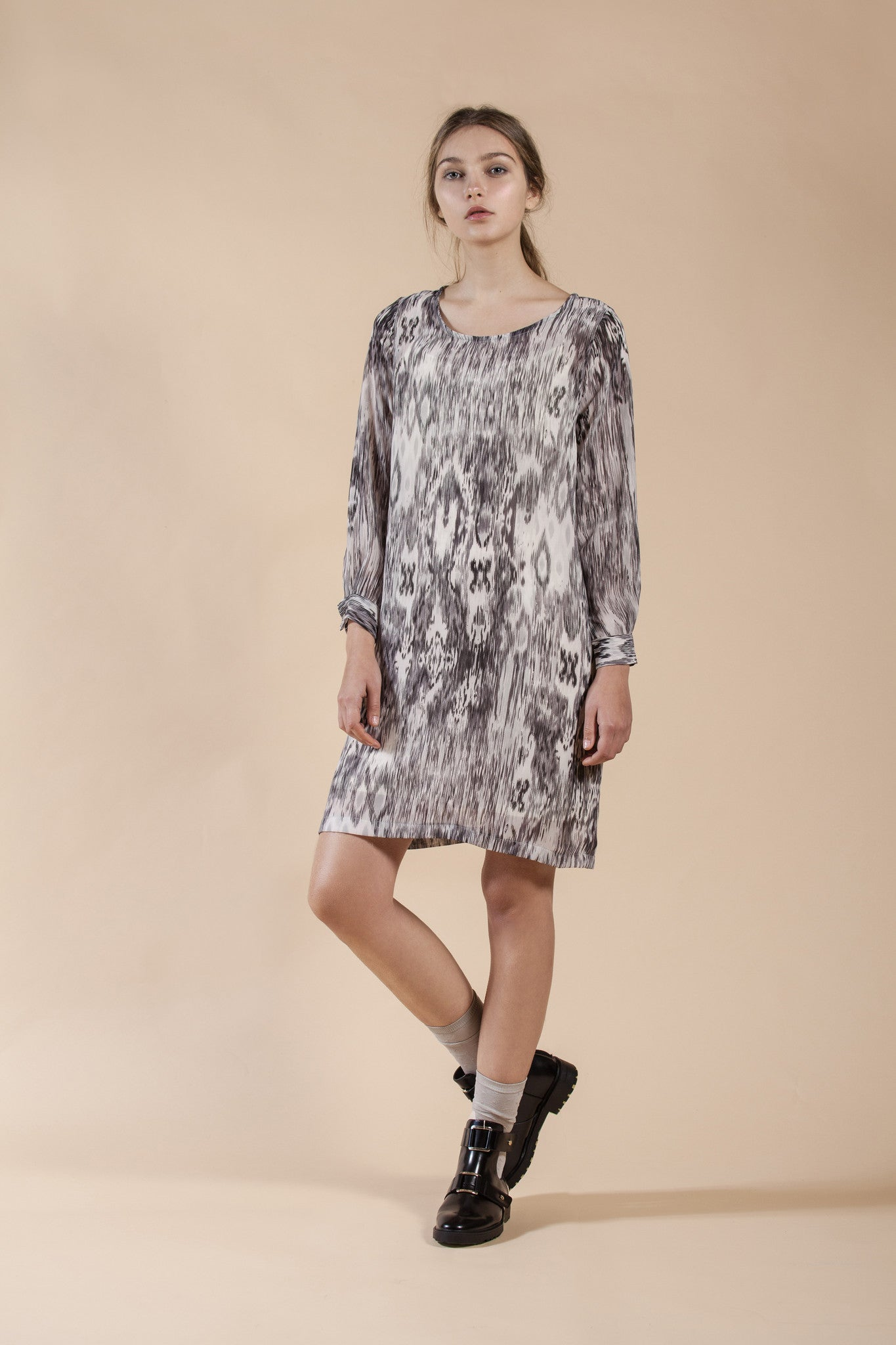 PRINTED SHEER DRESS - WIND