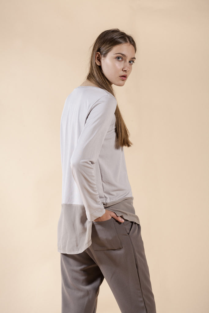 LOOSE FIT PLEATED PANTS - SAND