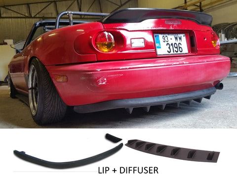 "MX5 MK1 Rear Lip and Universal Diffuser Style Rear Bumper Lip  (7 Fins 33"") - JapStyle.org"