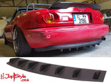 "Universal Diffuser Style Rear Bumper Lip  (7 Fins 33"") - JapStyle.org"