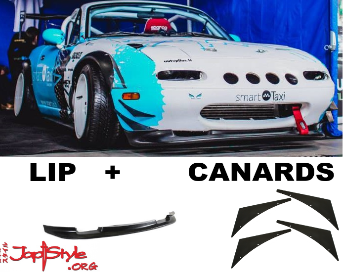 Mazda MX5 MK1 GV Style Front Lip + Universal Canards - JapStyle.org