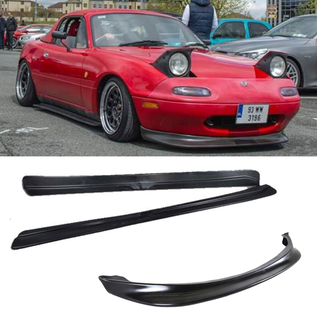 MX5 MK1 JS Front Lip and Feed Side Skirts - JapStyle.org