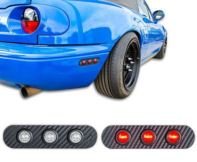MX5 LED Side Markers / Rear Light Side Panels (Clear/Red) - JapStyle.org